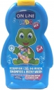 Online 2in1 Kids Shampoo und Body Wash mit Kaugummi 250 ml